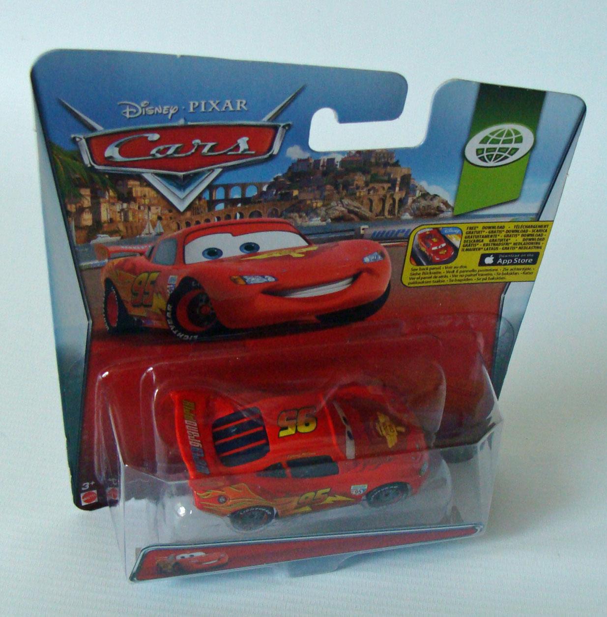 Cars World Grand Prix 1 15 Lightning McQueen 7 5 Cm Lang Mattel 3 Neu
