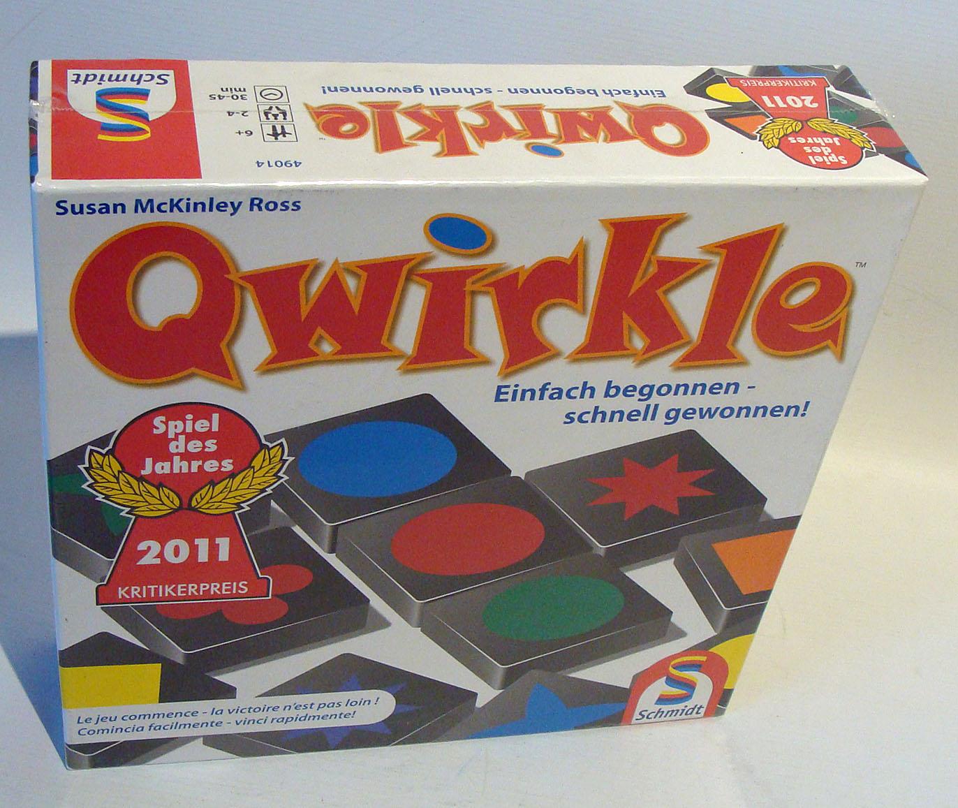 Schmidt Spiele Qwirkle Familienspiel Brettspiel 2 bis 4 Spieler Rollenspiel