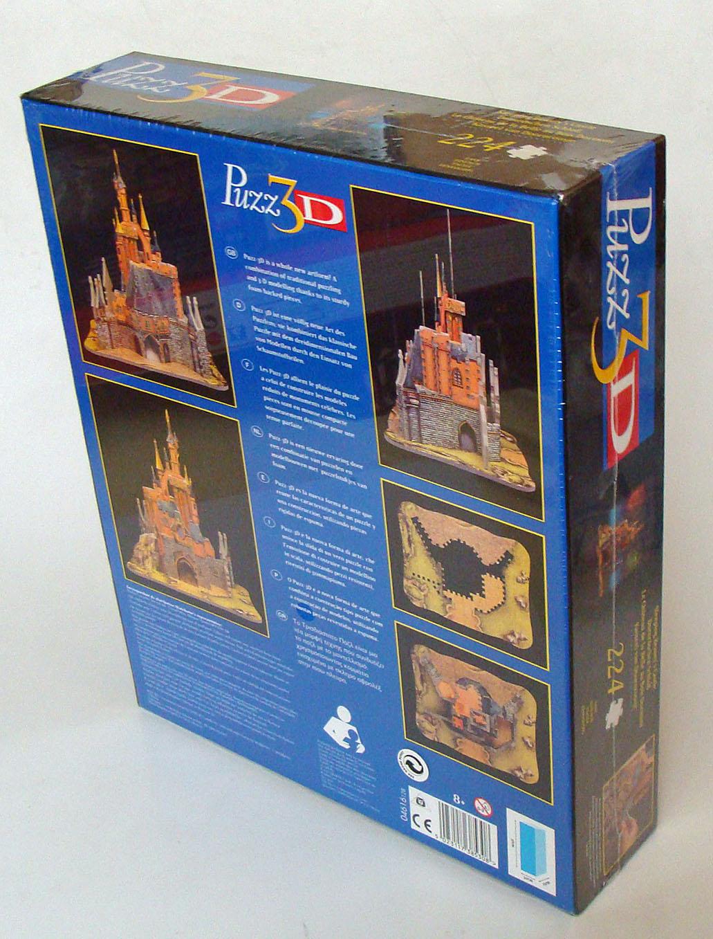 Puzz 3D Neu Dornröschen Schloss 224 Teile MB Spiele 8+