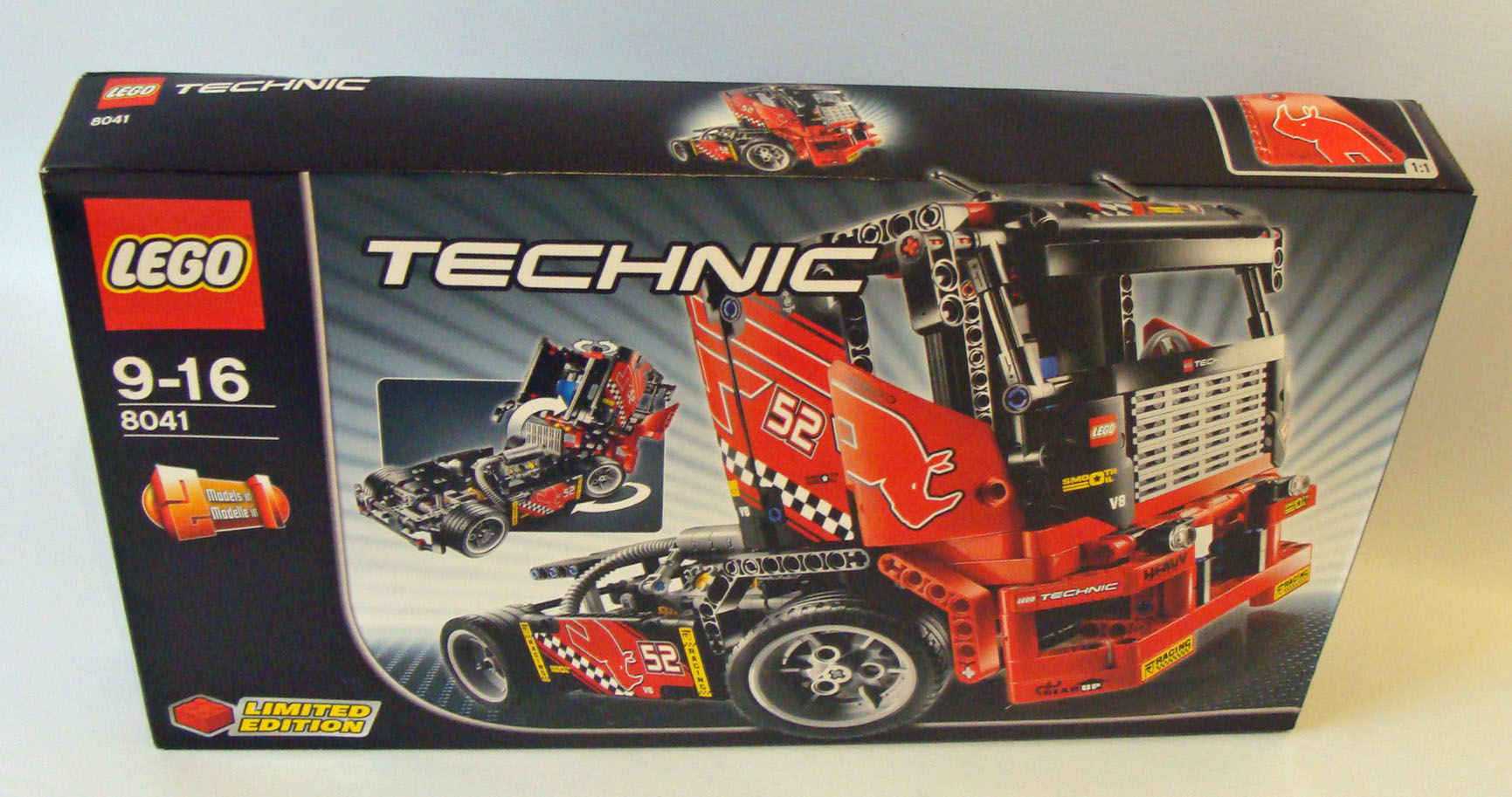 lego technic 8041 renn truck 608 teile 9 16 jahren. Black Bedroom Furniture Sets. Home Design Ideas