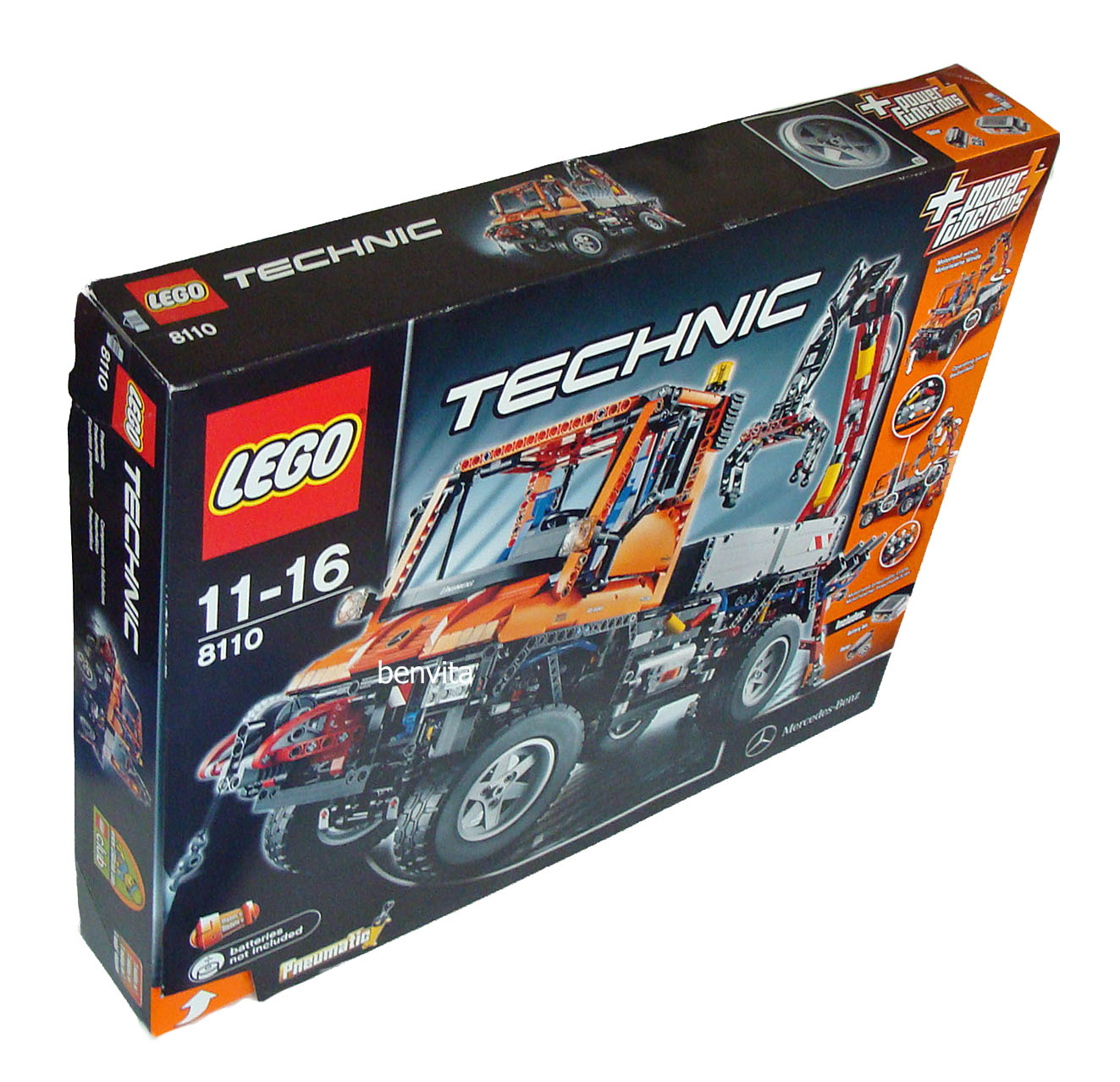 lego technic 8110 unimog u400 2048 teile 11 16 jahren. Black Bedroom Furniture Sets. Home Design Ideas