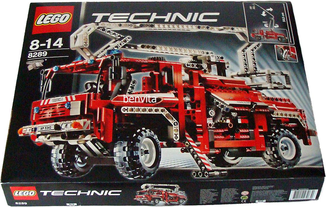 lego technic 8289 roter feuerwehr truck 1037 teile 8 14. Black Bedroom Furniture Sets. Home Design Ideas